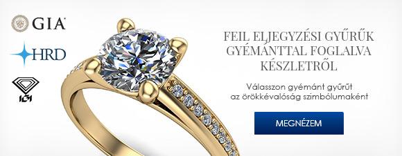 Gyémánttal foglalt FEIL eljegyzési gyűrűk készletről