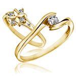 Sárga arany eljegyzési gyűrűk