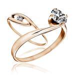 Vörös arany eljegyzési gyűrűk
