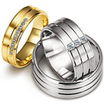 Aranyozott és ródiumozott ezüst karikagyűrűk