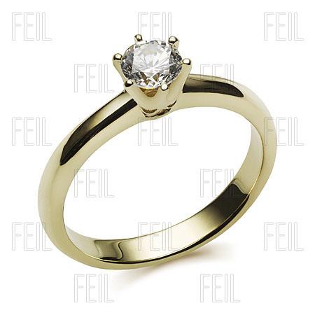 14d0aef356 FEIL WESAu-75 Sárga Arany Eljegyzési Gyűrű