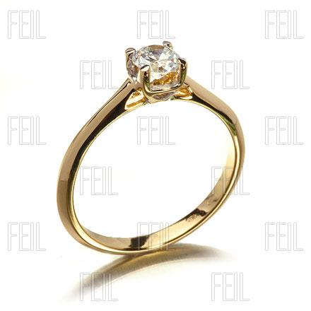 b147c6117d FEIL WESAu-827 Sárga Arany Eljegyzési Gyűrű